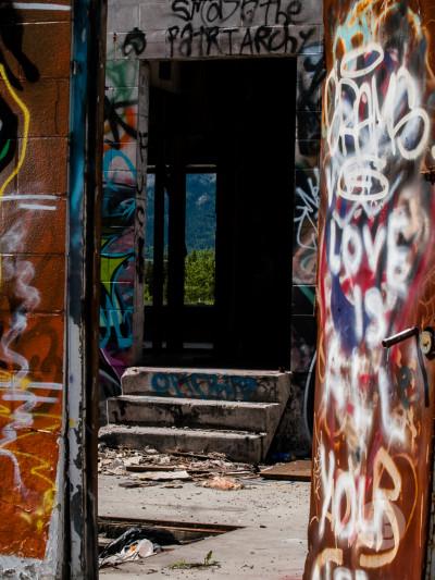 Abandoned building Highway 1-SB216822
